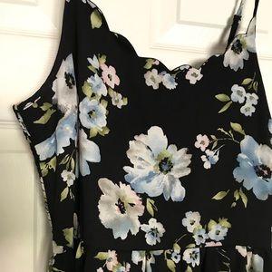 Xhilaration Dresses - BLACK FLORAL DRESS